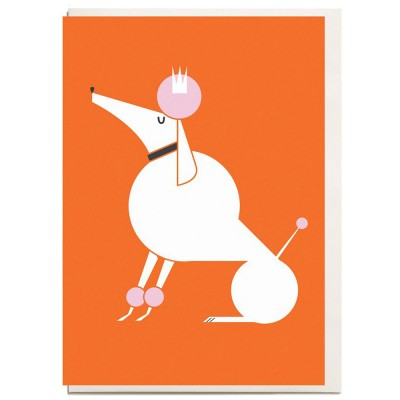 Poodle A6 Greeting Card