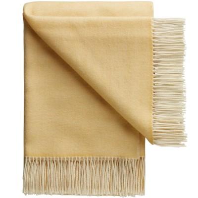 Porto Wool Throw - Yellow Hay