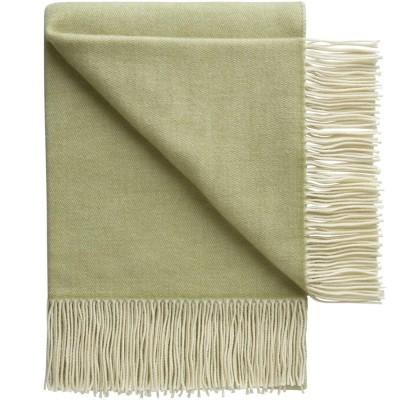 Porto Wool Throw - Fennel Green