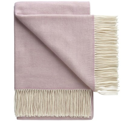 Porto Wool Throw - Lavender Rose