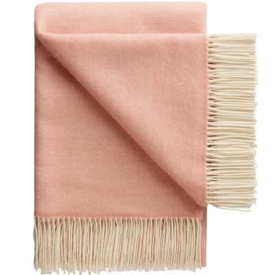 Porto Wool Throw - Rose Taupe