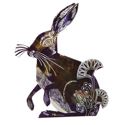 Judy Lumley Hare 3D Card