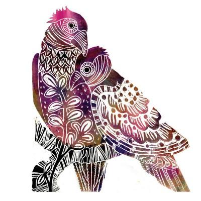 Judy Lumley Love Birds 3D Card