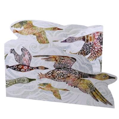 Judy Lumley Flying Geese Tri-fold Card