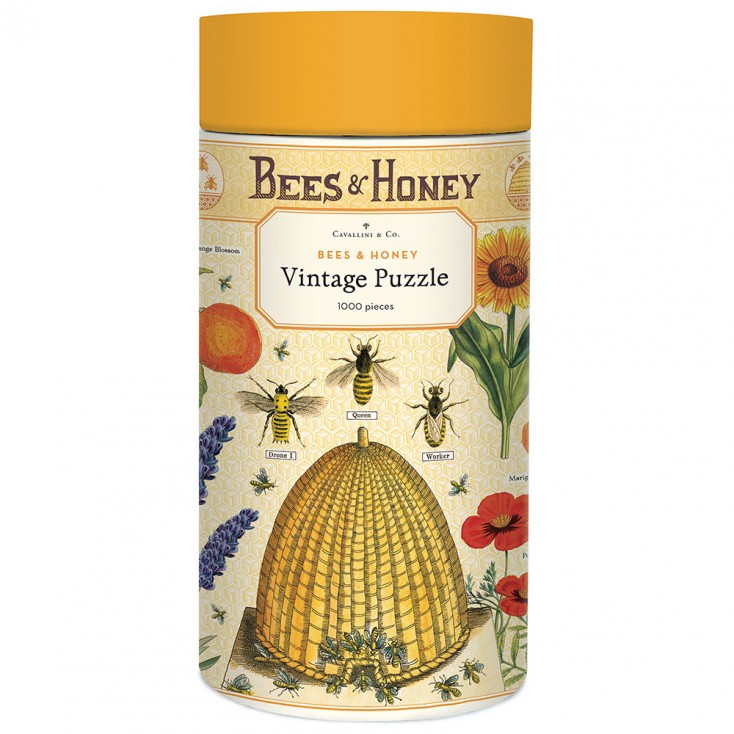 Cavallini & Co Bees & Honey 1000 Piece Vintage Puzzle