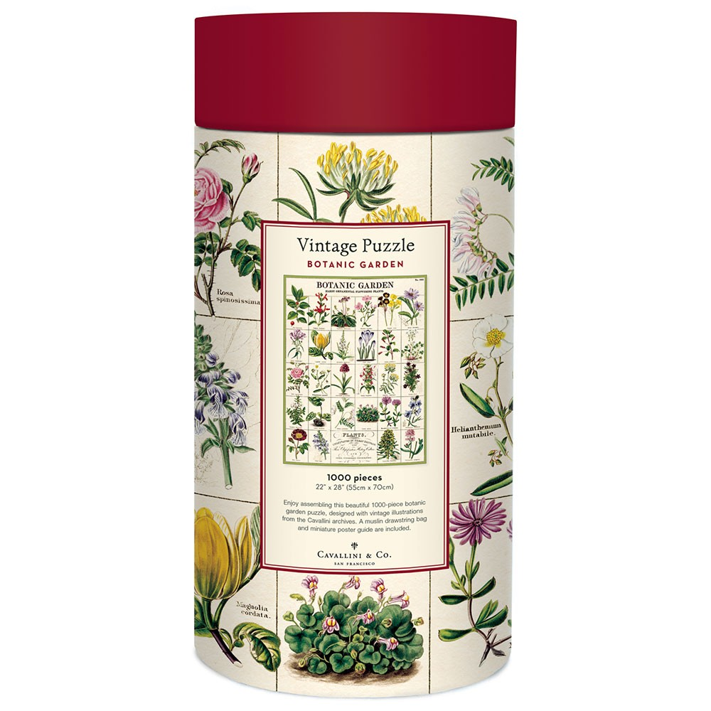 Victorian Trading Co Cavallini /& Co./'s Botanic Garden 1000 Piece Puzzle