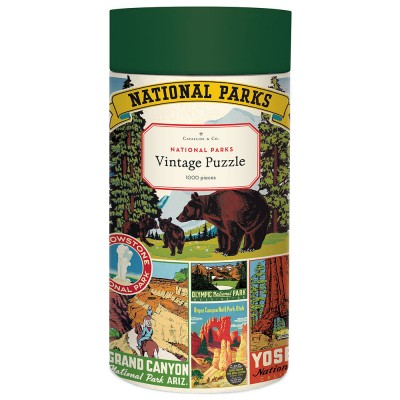 Cavallini & Co National Parks 1000 Piece Vintage Puzzle