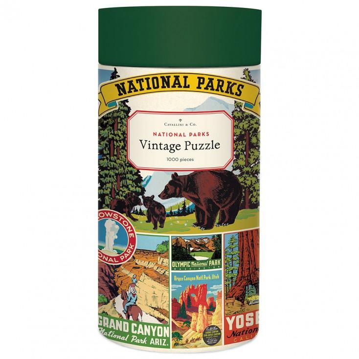 Cavallini & Co National Parks 1000 Piece Vintage Puzzle