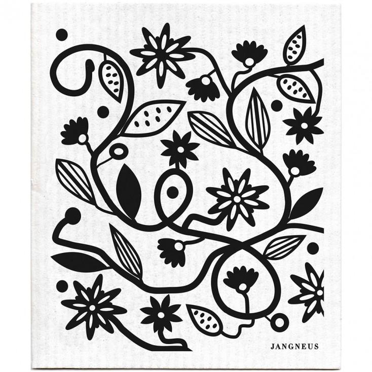 Jangneus Dishcloth - Black Doodle