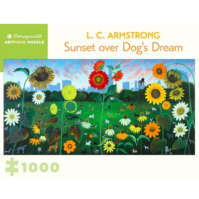 Pomegranate L. C. Armstrong Sunset Over Dog's Dream 1000 Piece Jigsaw