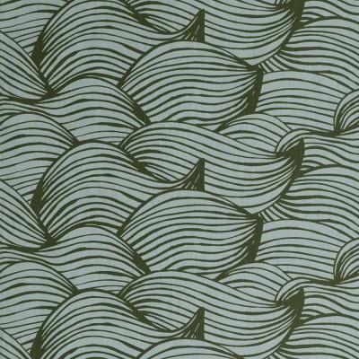 Scandinavian Fabric - Spira Wave Green Fabric