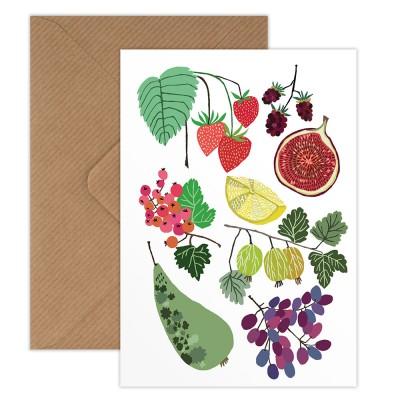 Brie Harrison Greeting Card - Fruit Field