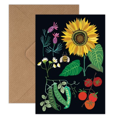 Brie Harrison Greeting Card - Sunflower Plot