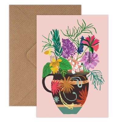 Brie Harrison Greeting Card - Gardeners Vase