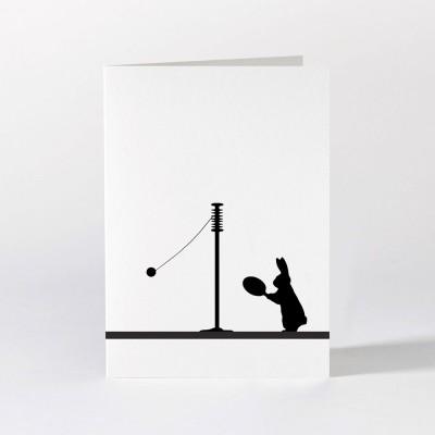 Ham Greeting Card - Swing Ball Rabbit
