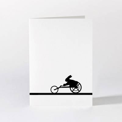 Ham Greeting Card - Paralympic Rabbit
