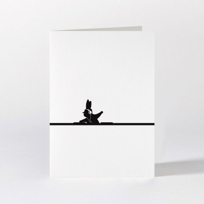 Ham Greeting Card - DJ Rabbit