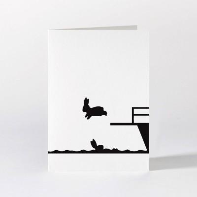 Ham Greeting Card - Diving Rabbit