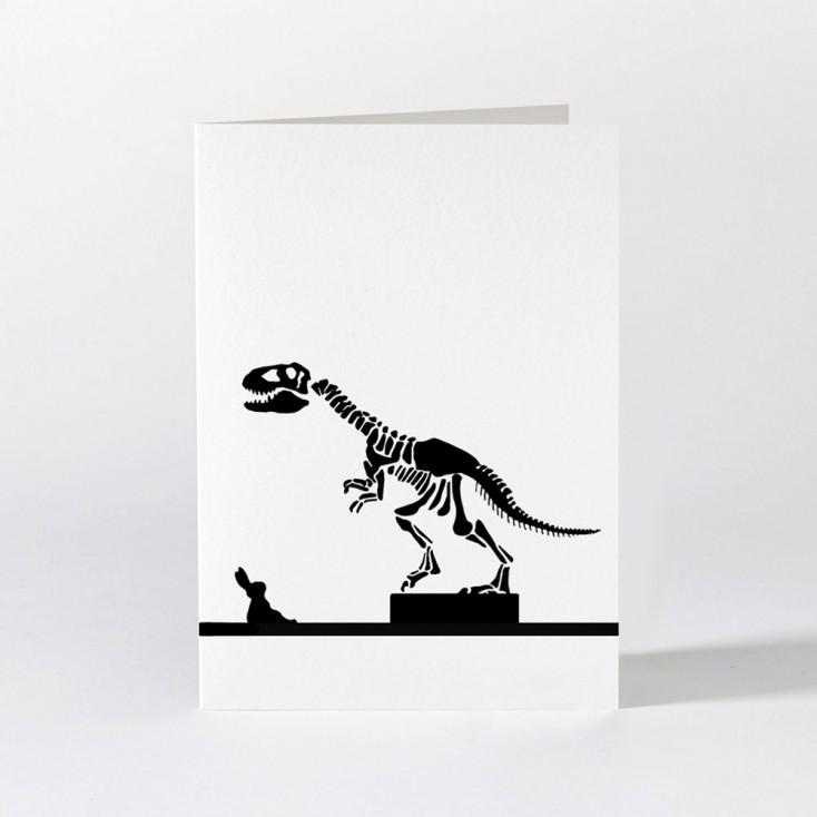 Ham Greeting Card - Dinosaur Rabbit