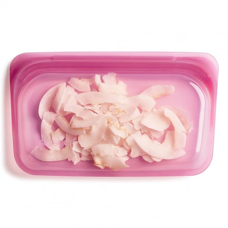 Stasher Reusable Silicone Bag - Snack Hibiscus