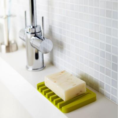 Yamazaki Flow Self Draining Soap Dish - Green