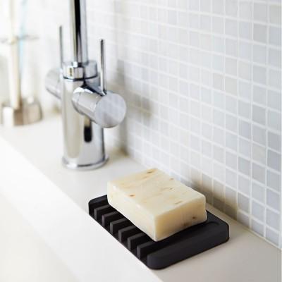 Yamazaki Flow Self Draining Soap Dish - Black