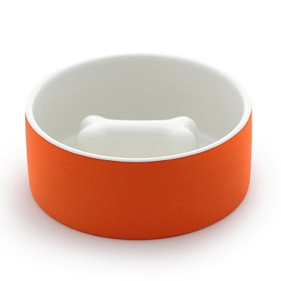 Happy Pet Project Large Dog Bowl - Tangerine Bone