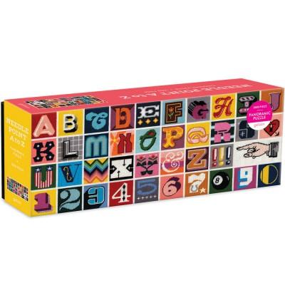 Needlepoint A to Z 1000 Piece Panoramic Jigsaw