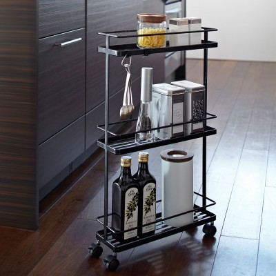 Yamazaki Tower Rolling Kitchen Cart - Black