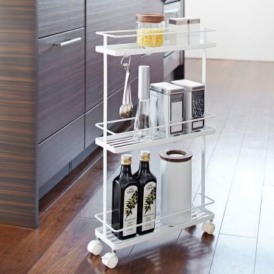Yamazaki Tower Rolling Kitchen Cart - White