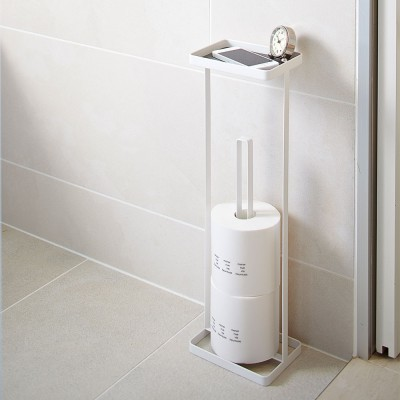 Yamazaki Tower Toilet Paper Stand With Tray