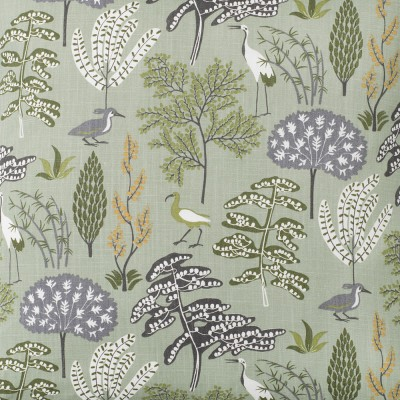 Scandinavian Fabric - Spira Flora Green