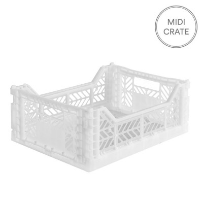 Aykasa Folding Crate Midi - White