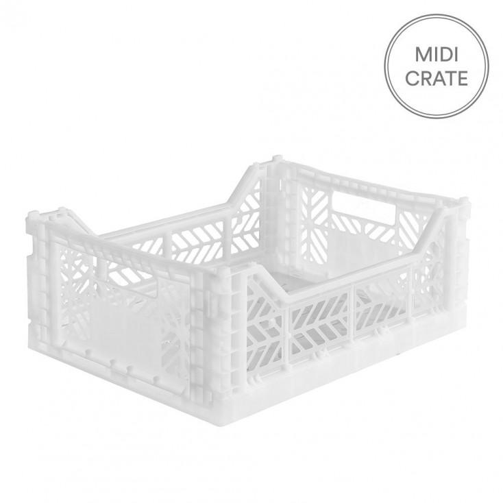 Aykasa Folding Crate Midi - White