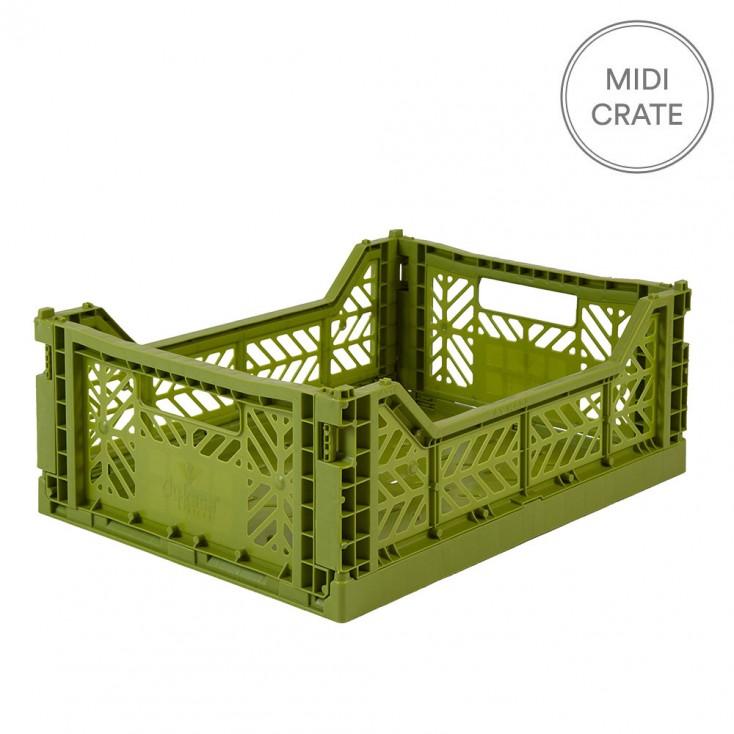 Aykasa Folding Crate Midi - Olive