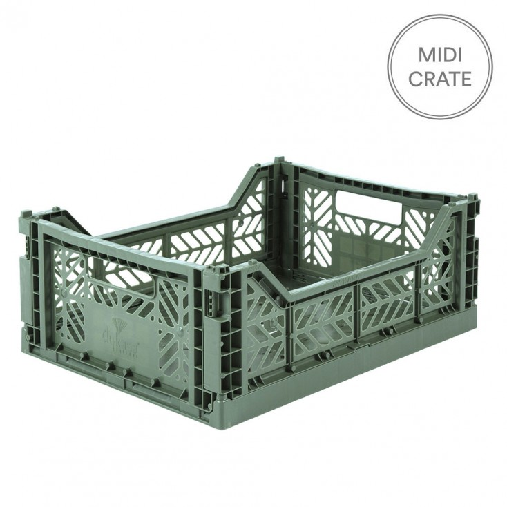 Aykasa Folding Crate Midi - Almond Green