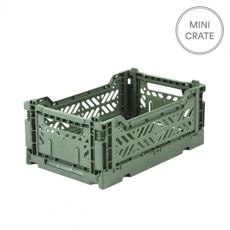 Aykasa Folding Crate Mini - Almond Green