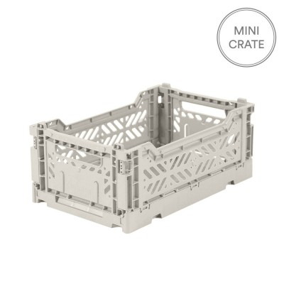 Aykasa Folding Crate Mini - Light Grey