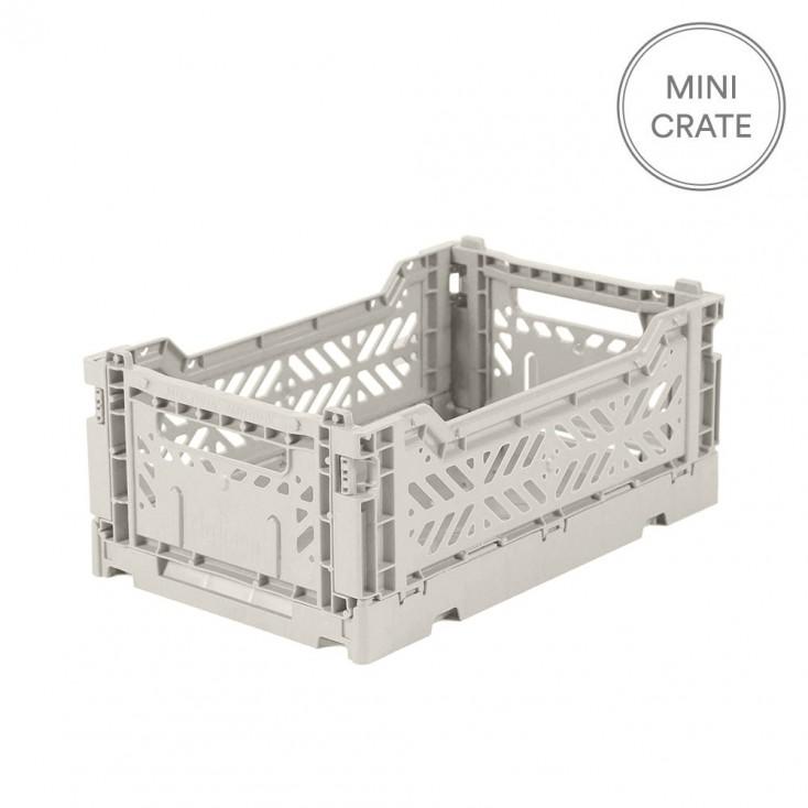 Aykasa Folding Crate Mini - Light Grey