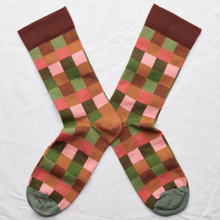 Bonne Maison Socks - Multicolour Check
