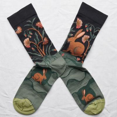 Bonne Maison Socks - Dark Hare