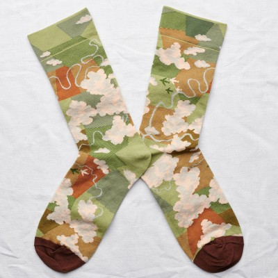 Bonne Maison Socks - Moss Cloud