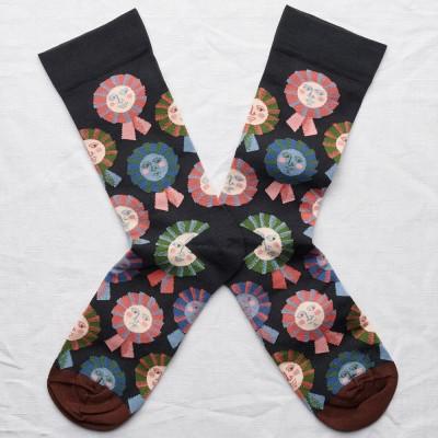 Bonne Maison Socks - Dark Rosette