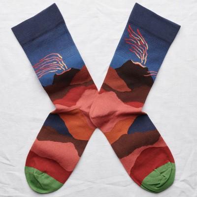 Bonne Maison Socks - Slate Volcano