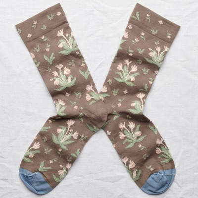 Bonne Maison Socks - Taupe Bouquet