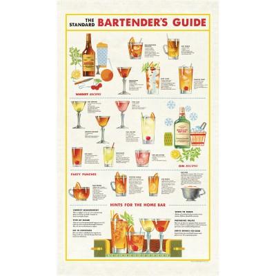 Cavallini & Co Tea Towel - Bartender's Guide