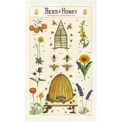 Cavallini & Co Tea Towel - Bees & Honey