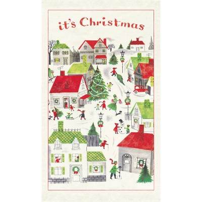 Cavallini & Co Tea Towel - Christmas Village