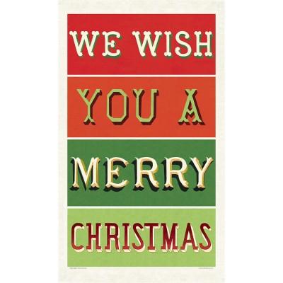 Cavallini & Co Tea Towel - Merry Christmas