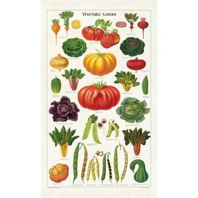 Cavallini & Co Tea Towel - Vegetable Garden